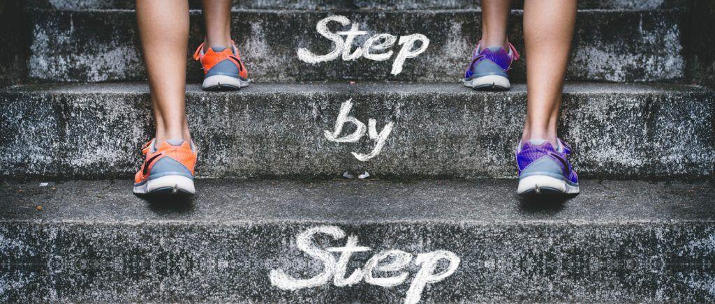 Schritt für Schritt